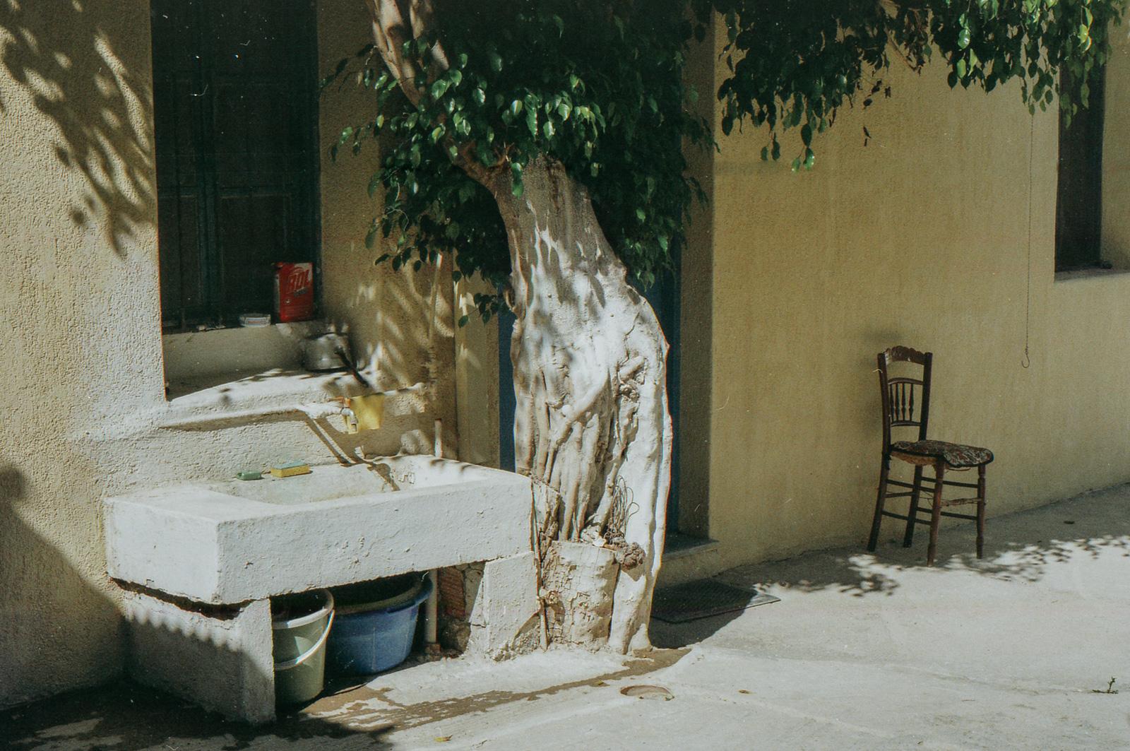 Backyard sink